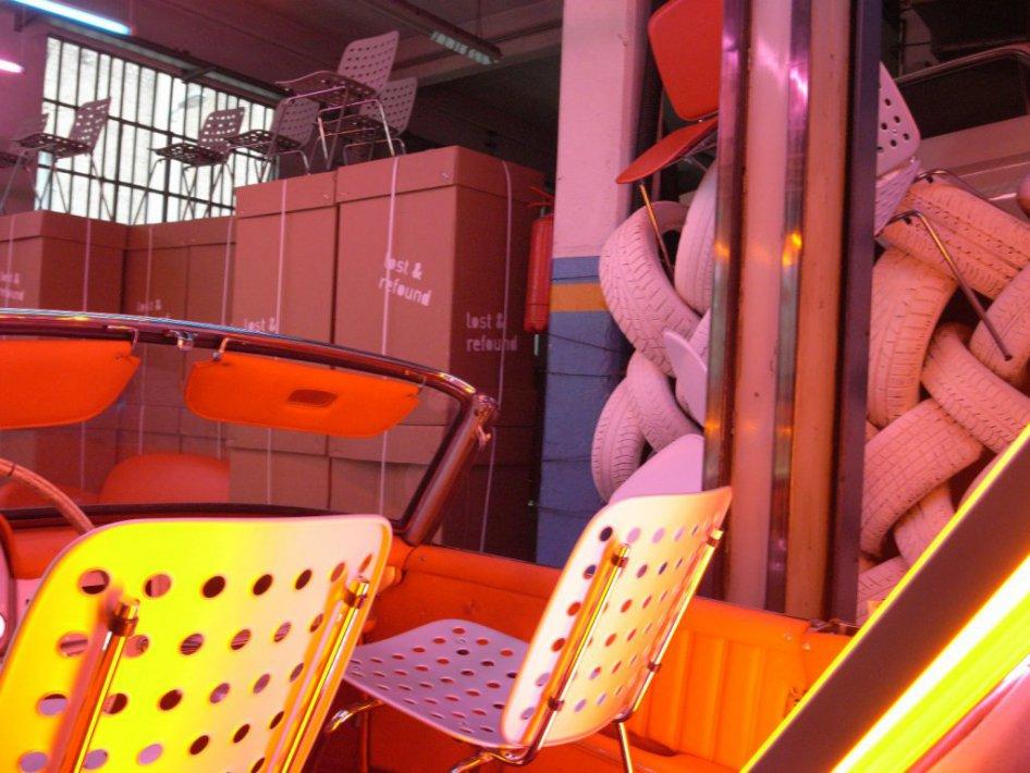 Sedia in inox con sedile/schienale in alluminio