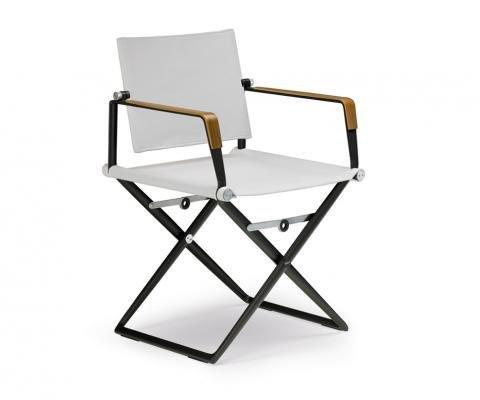 sedia in alluminio verniciata seduta e schienale in pelle