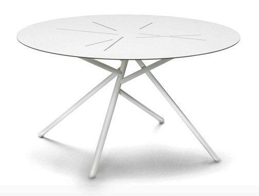 tavolino in inox 304 con top tagliato al laser